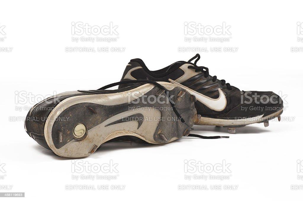 Nike Baseball Cleats royalty-free stock photo