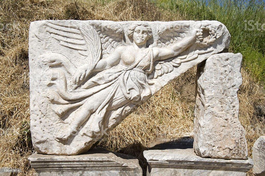 Nike, Ephesus, Turkey stock photo