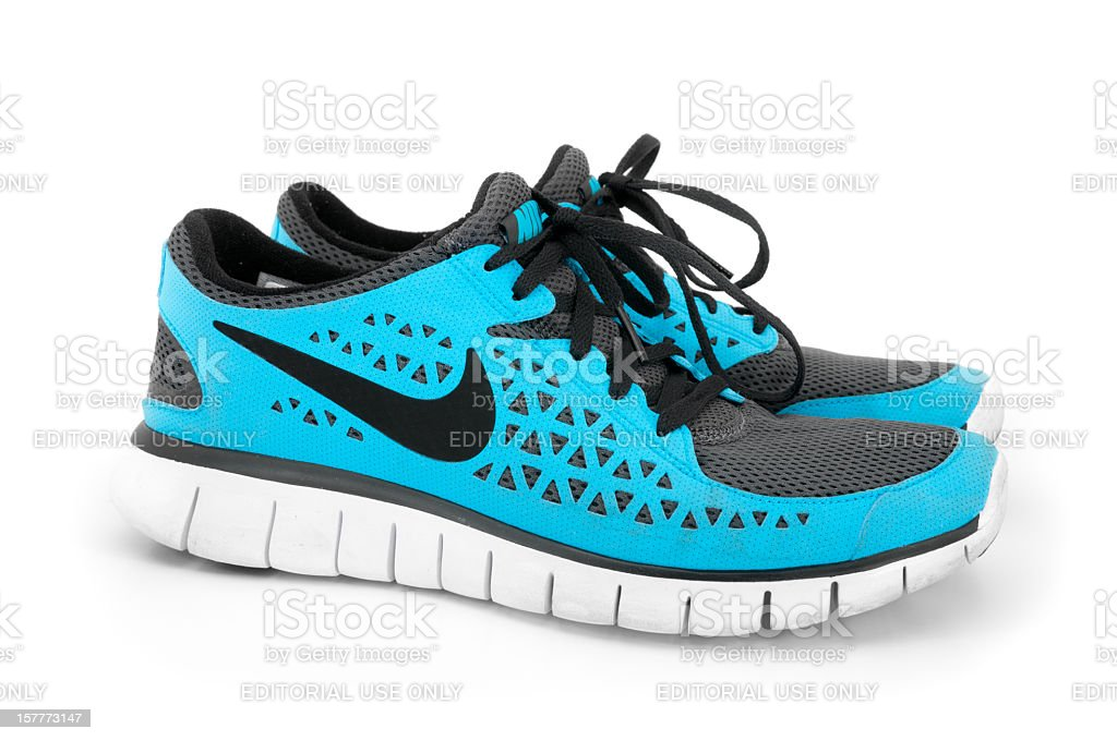 Nike Free Run+ Men's Running Shoe Isolated on White royalty-free stock photo
