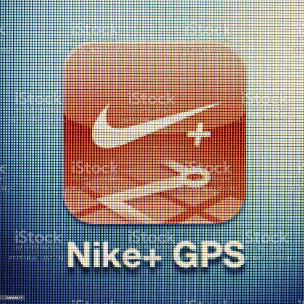 Nike+ GPS royalty-free stock photo