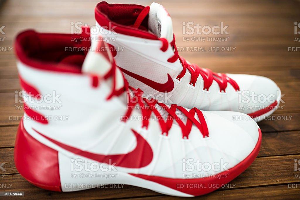 Nike Hyperdunk Basketball sport shoes stock photo