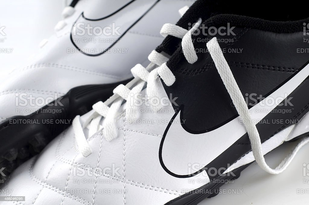 Nike indoor soccer shoes royalty-free stock photo