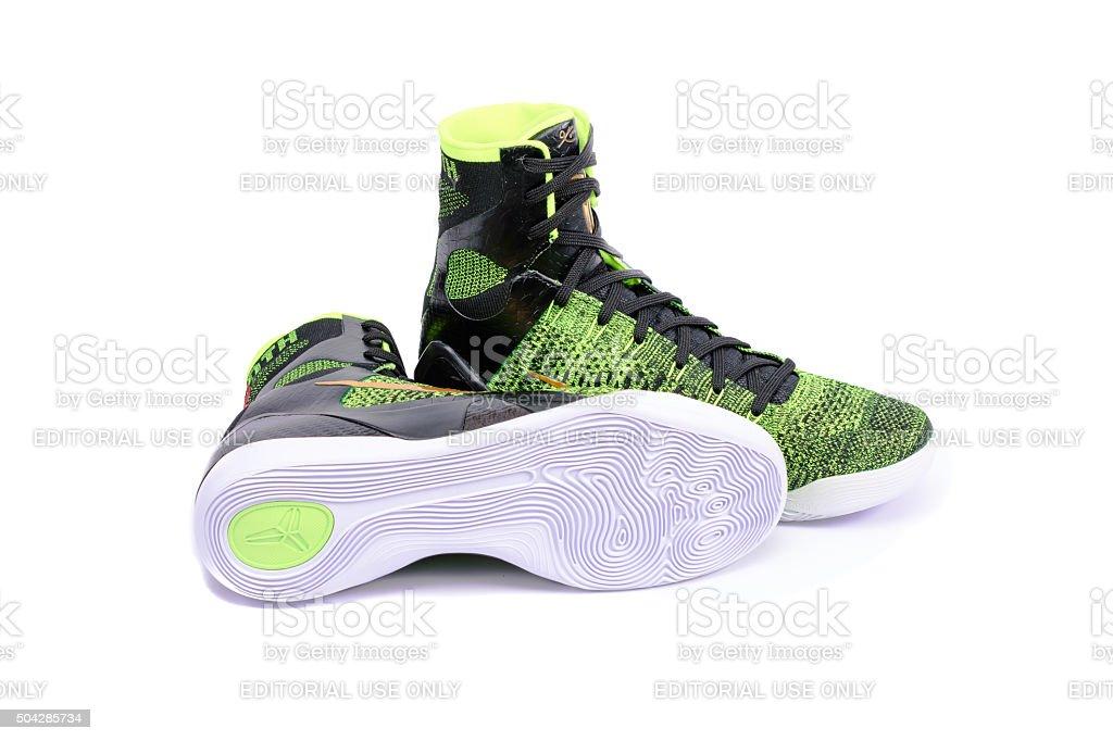 Nike Kobe Elite Victory High-Top Basketball Shoe Sneaker stock photo