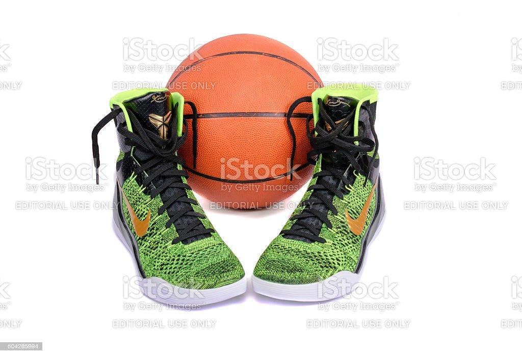 Nike Kobe Elite Victory High-Top Basketball Shoe Sneaker stock photo