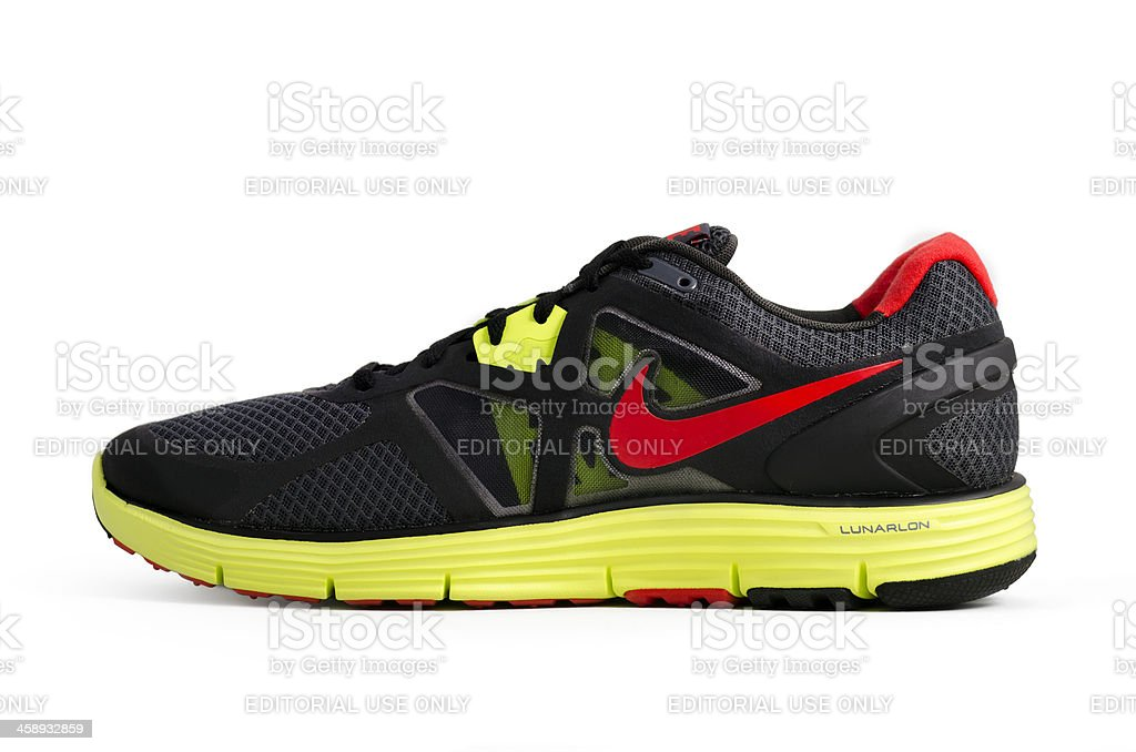 Nike Lunarglide+ 3 Running shoe royalty-free stock photo