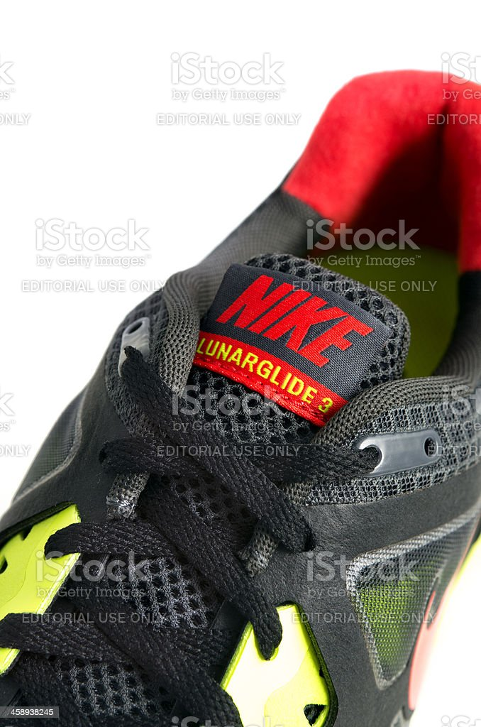 Nike Lunarglide+ 3 Running shoe stock photo