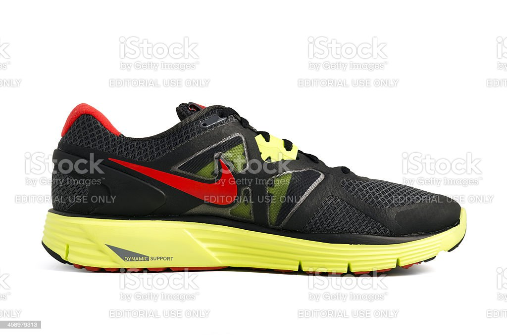 Nike Lunarglide trainer stock photo
