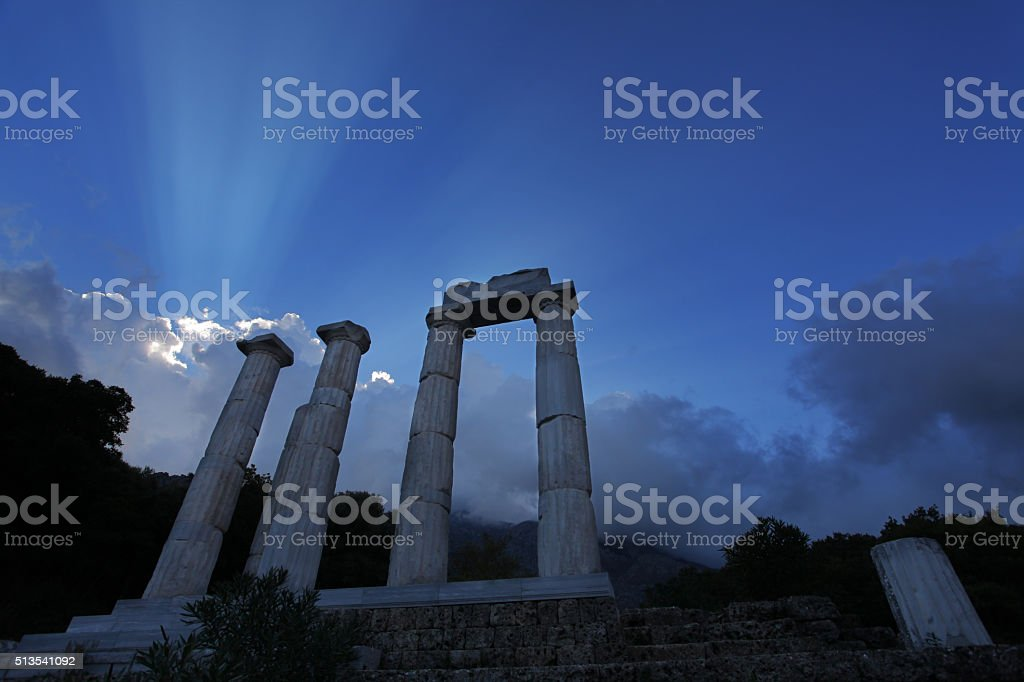Nike of Samothrace site stock photo