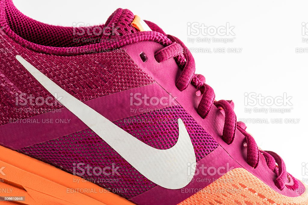 Nike Pegasus Design Shoe and Logo stock photo