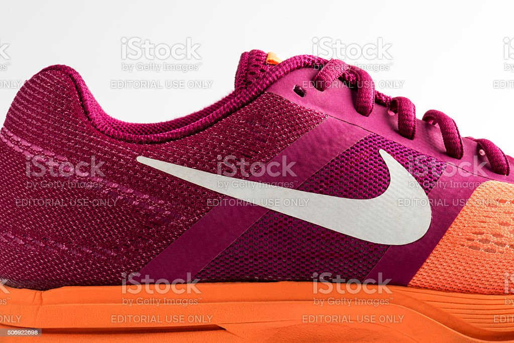 Nike Pegasus Design Shoe and Logo stock photo