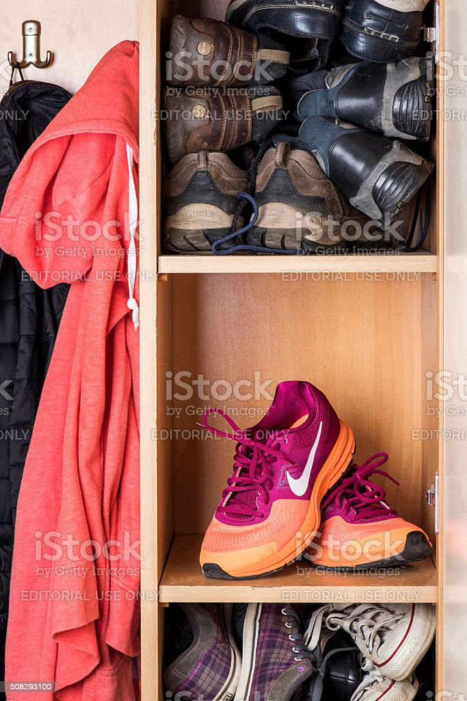 Nike Pegasus Woman Sport Shoe stock photo