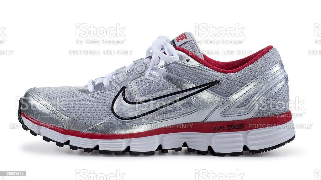 Nike Runnig Shoe on White royalty-free stock photo