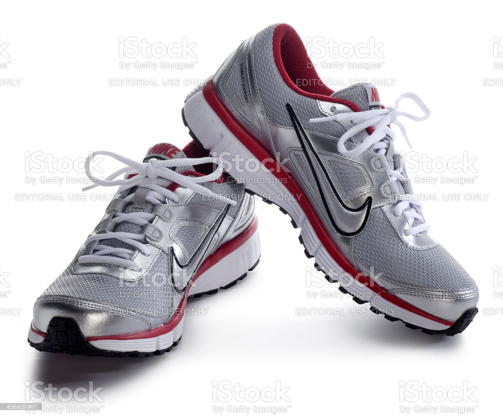 Nike Runnig Shoes on White royalty-free stock photo