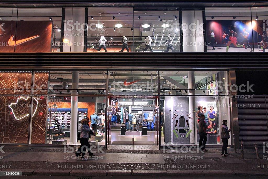 Nike shop stock photo