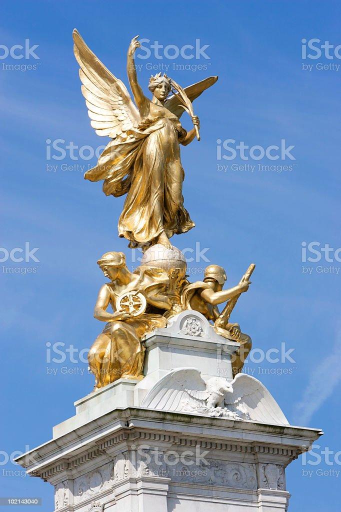 Nike (Goddess of Victory) Statue outside Buckingham Palace stock photo
