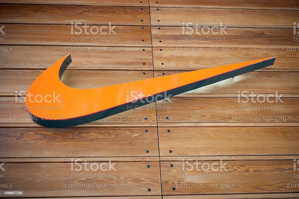 Nike store logo, London, UK stock photo