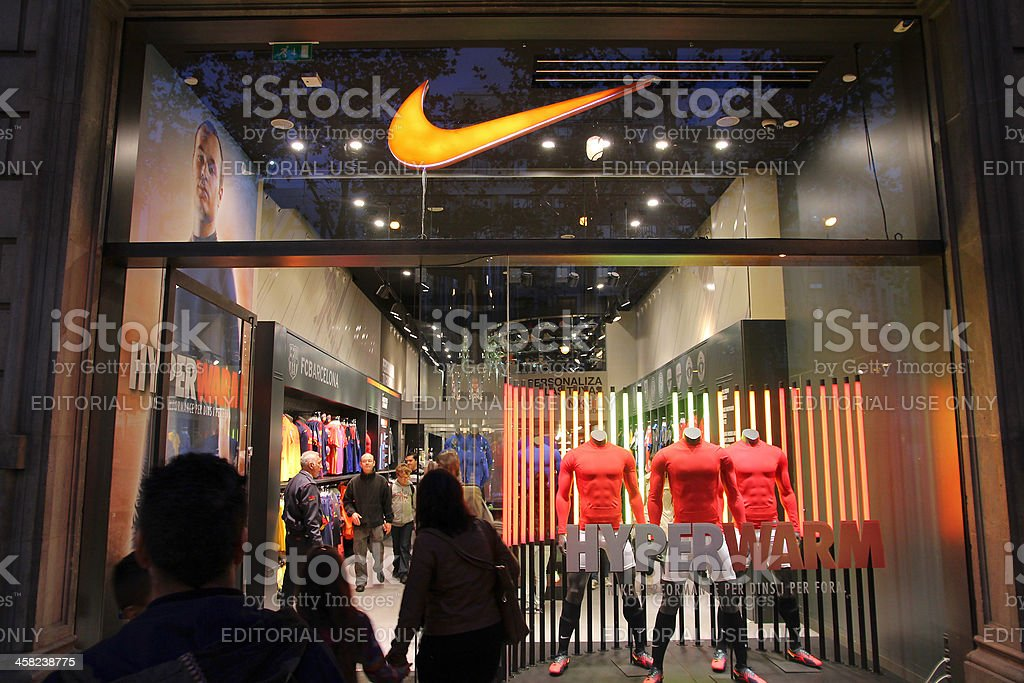 Nike store stock photo
