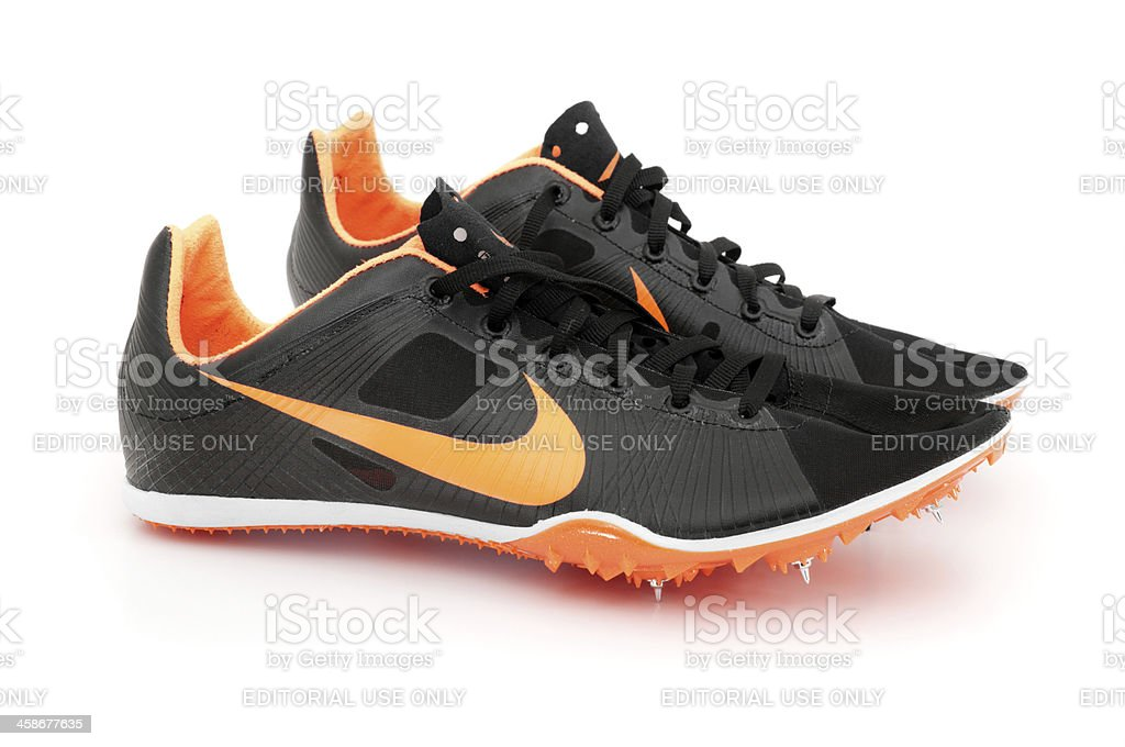 Nike Zoom Victory Track Spike Isolated on White royalty-free stock photo