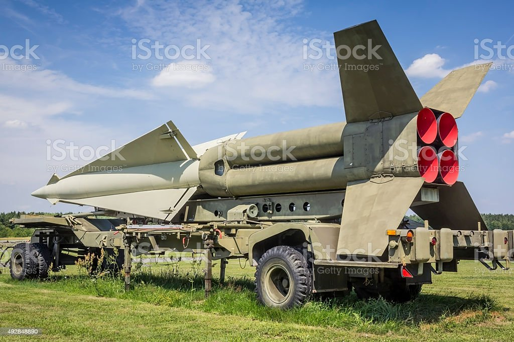 Nike-Hercules Missile stock photo
