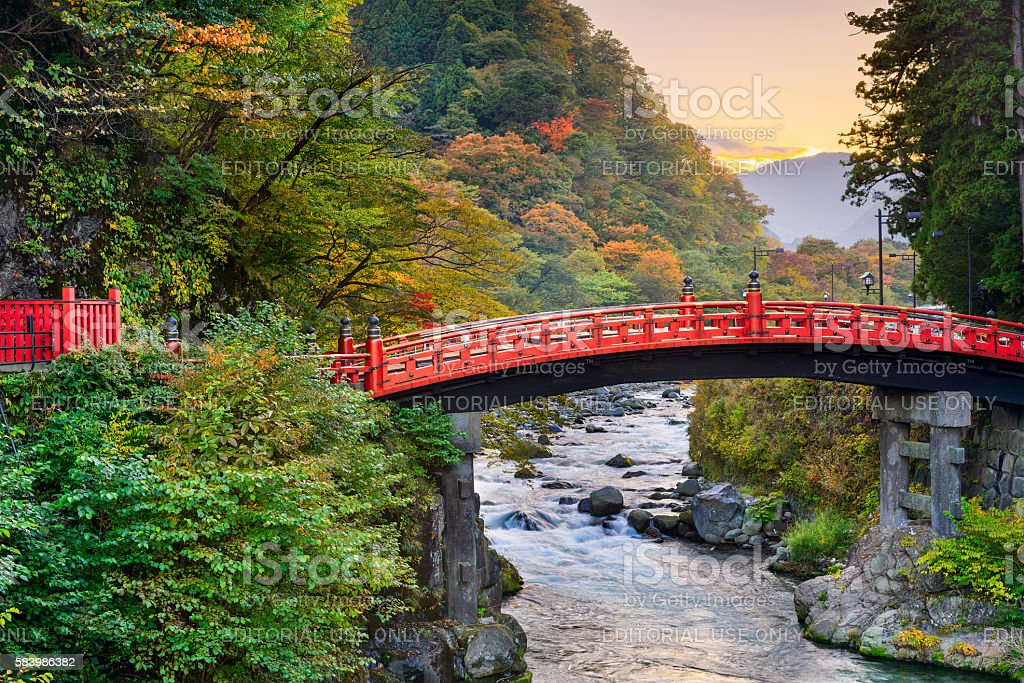 Nikko, Japan Bridge stock photo