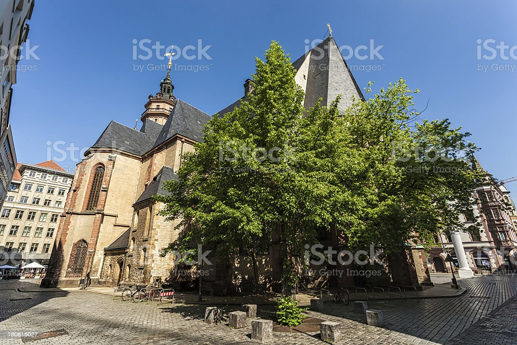 Nikolai Church in Leipzig stock photo