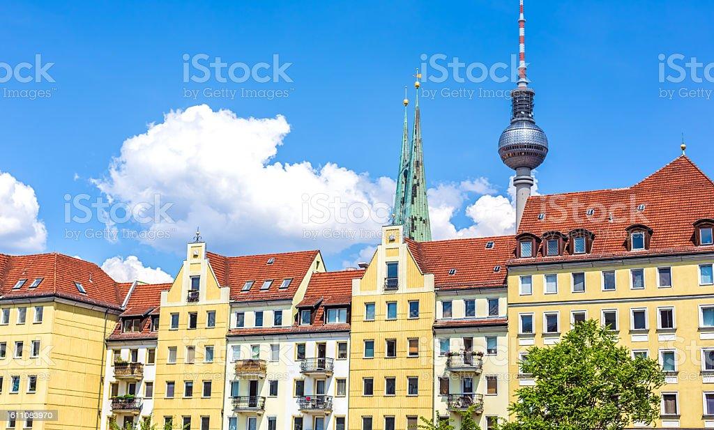 Nikolaiviertel in Berlin stock photo