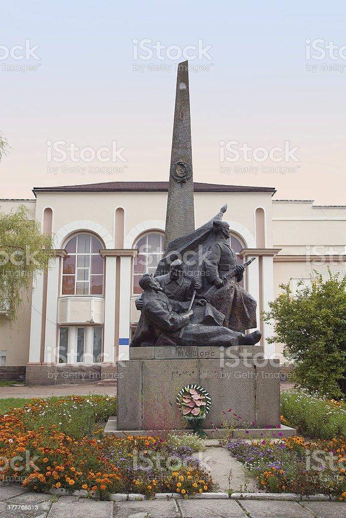 Nikolay Shors Monument in Korosten, Ukraine stock photo