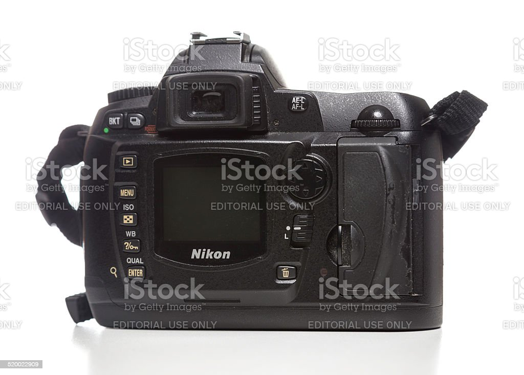 Nikon D70 camera back stock photo