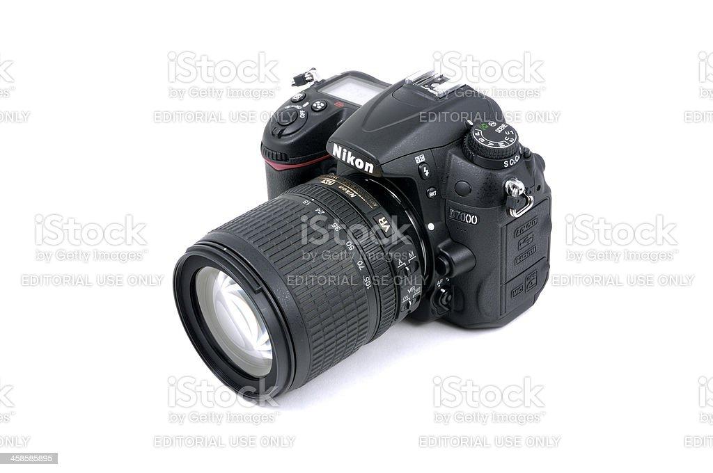 Nikon D7000 DSLR Camera and AF-S Nikkor 18-105mm Lens royalty-free stock photo