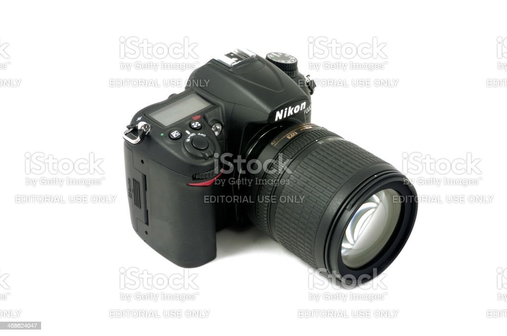 Nikon D7000 DSLR Camera and AF-S Nikkor 18-105mm Lens royalty-free stock photo