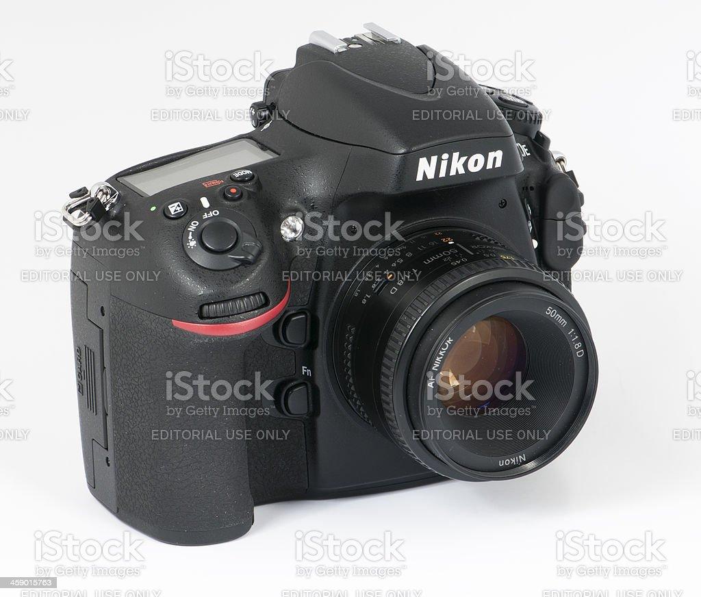 Nikon D800 DSLR  and 50mm 1.8 lens stock photo