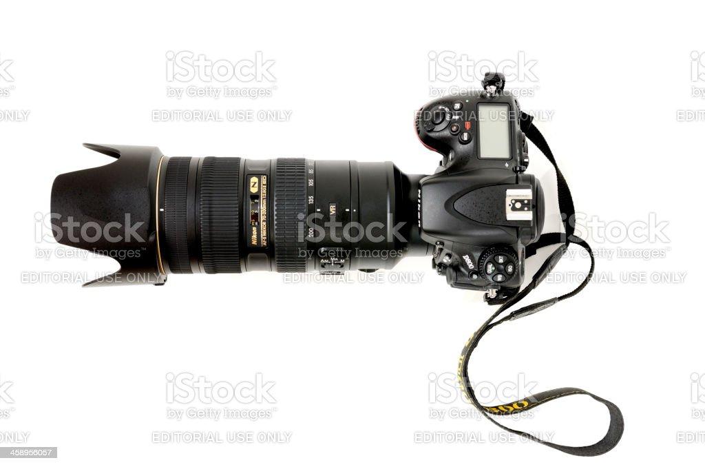 Nikon D800 with Nikkor 70-200 VRII lens stock photo