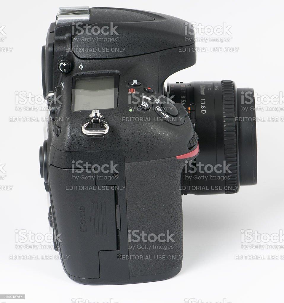 Nikon D800e  DSLR  and 50mm 1.8 lens stock photo