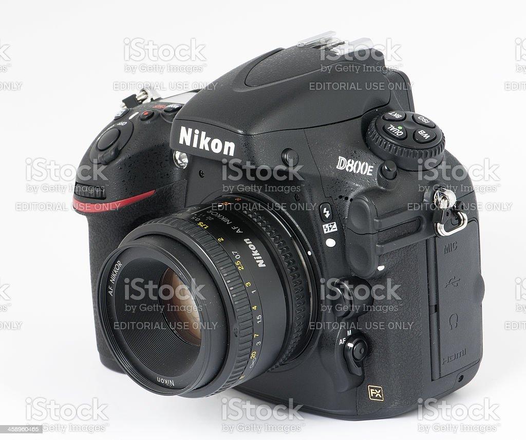 nikon d800e with 50mm lens stock photo