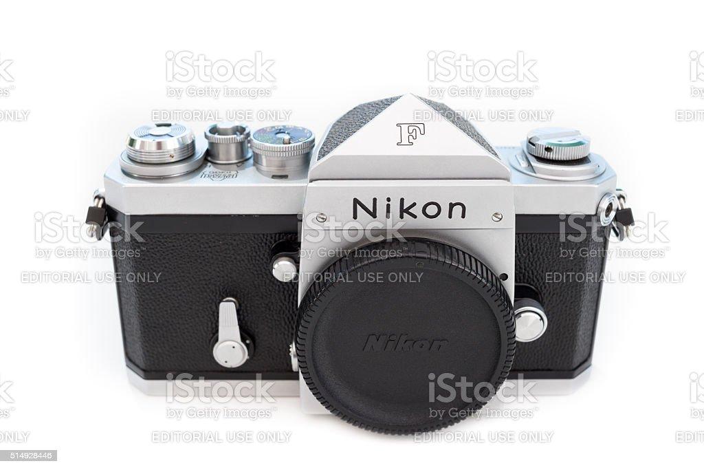 Nikon F (Apollo) 35mm single-lens reflex professional film camera stock photo