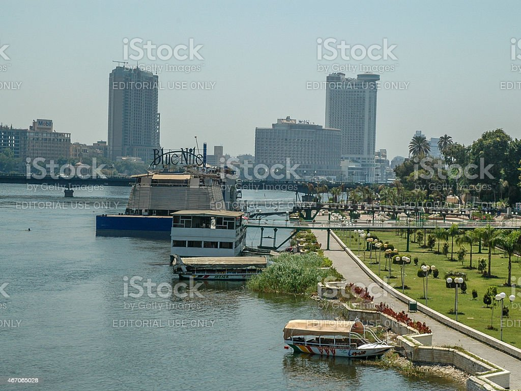 Nile Panorama, Cairo stock photo