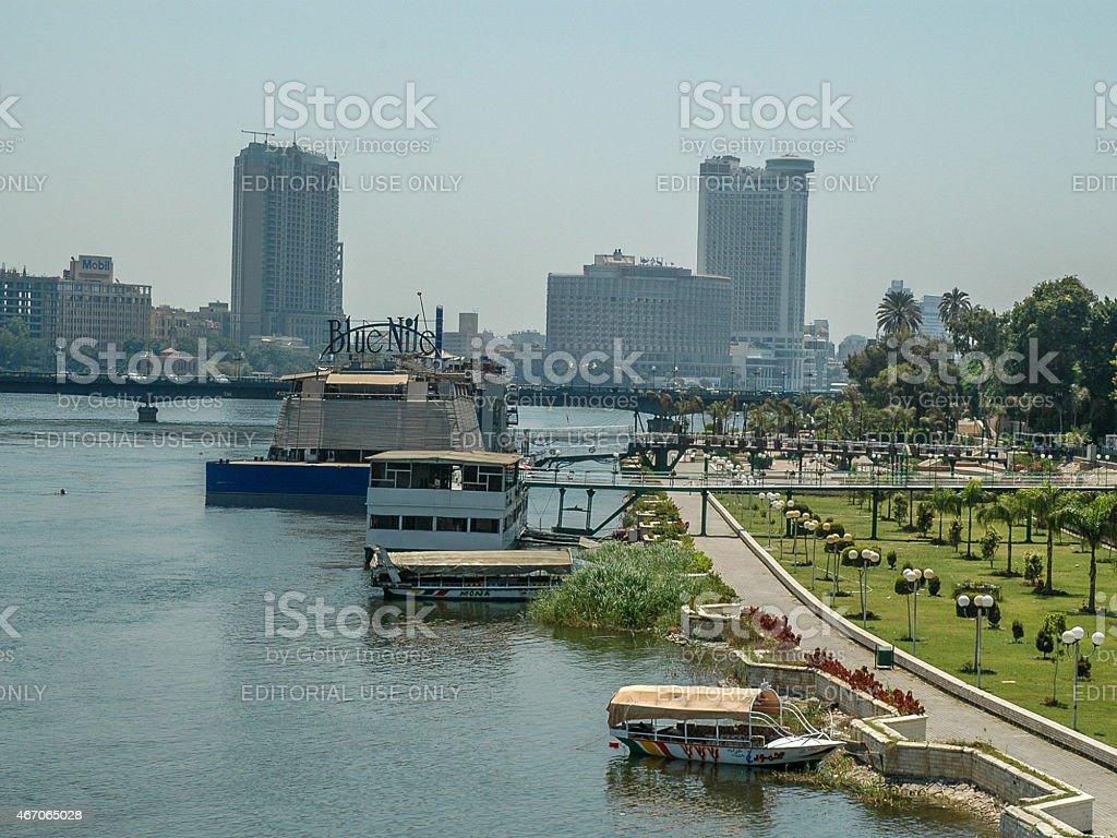 Nile Panorama, Cairo stock photo