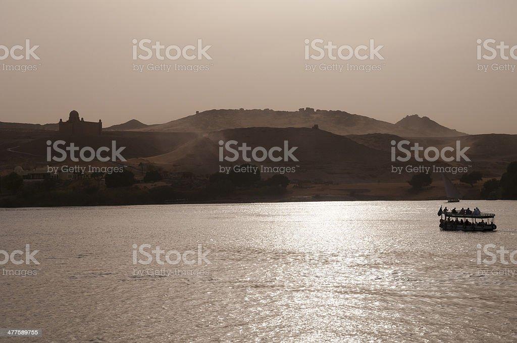 Nile River in Aswan, Egypt royalty-free stock photo