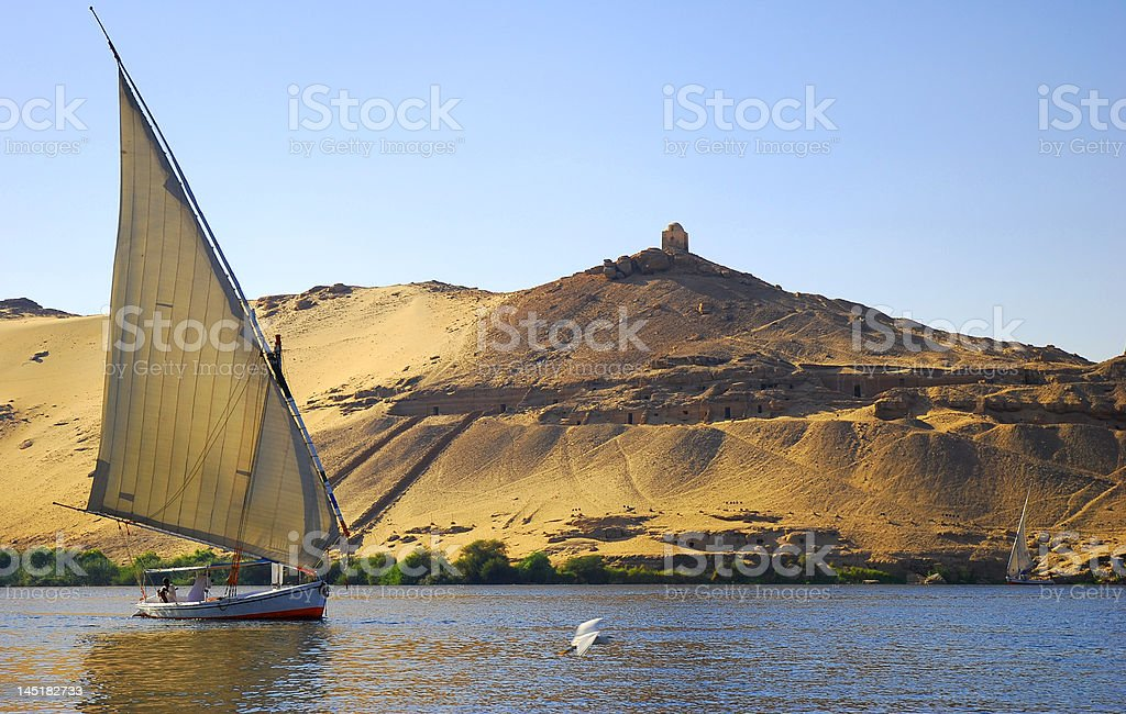 Nile river in Egypt royalty-free stock photo