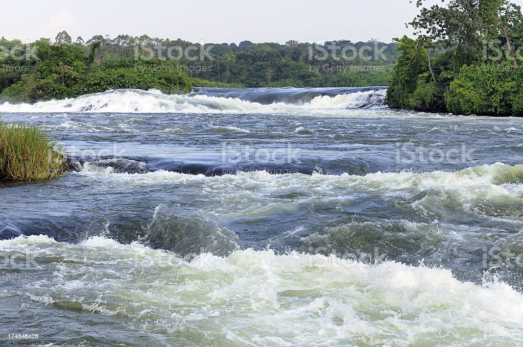 Nile River Rapids stock photo