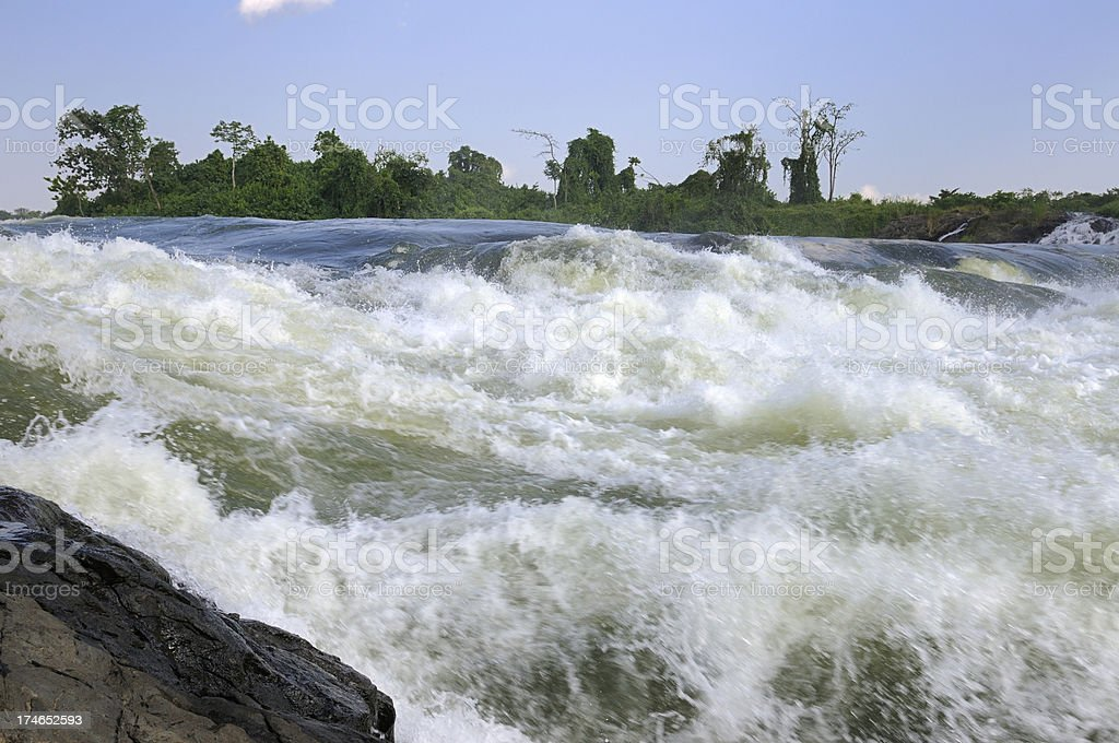 Nile River Rapids royalty-free stock photo