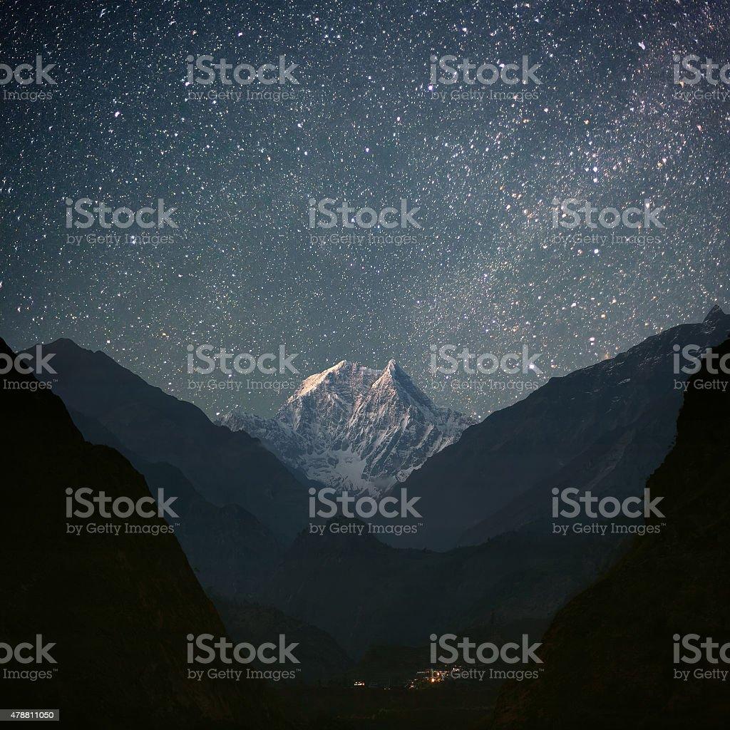 Nilgiri South (6839 m) stock photo