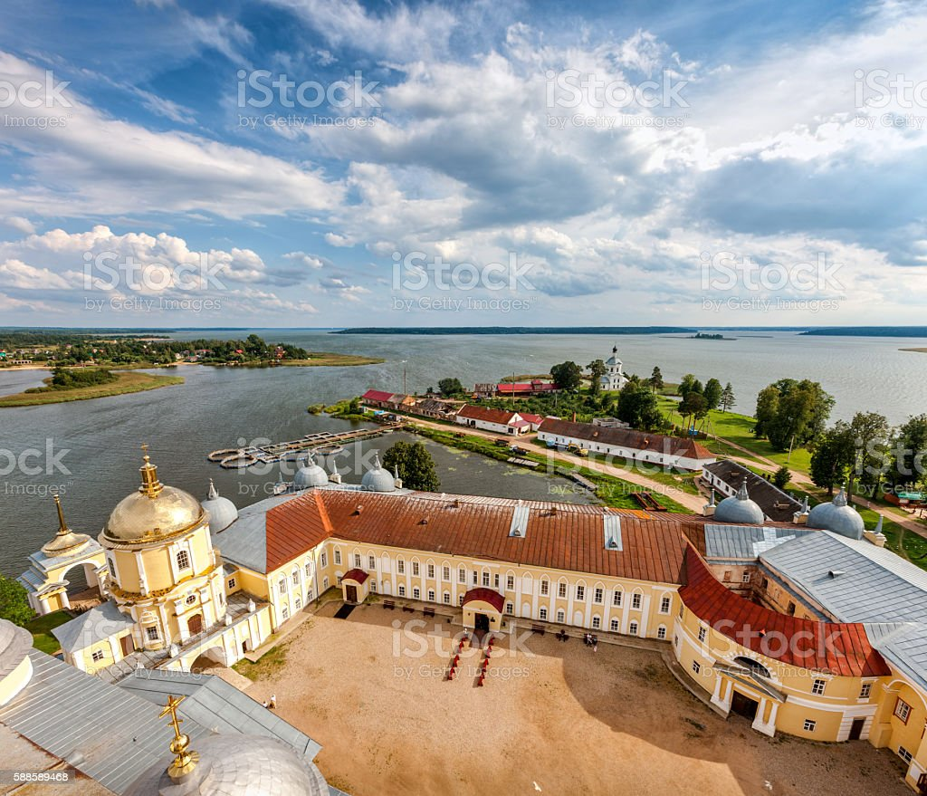 Nilov Monastery, Lake Seliger, Tver region, Russia. stock photo