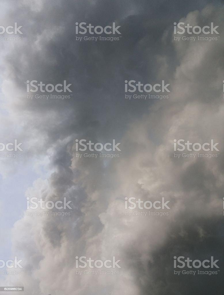 Nimbus moving,Appearance of rain-cloud stock photo
