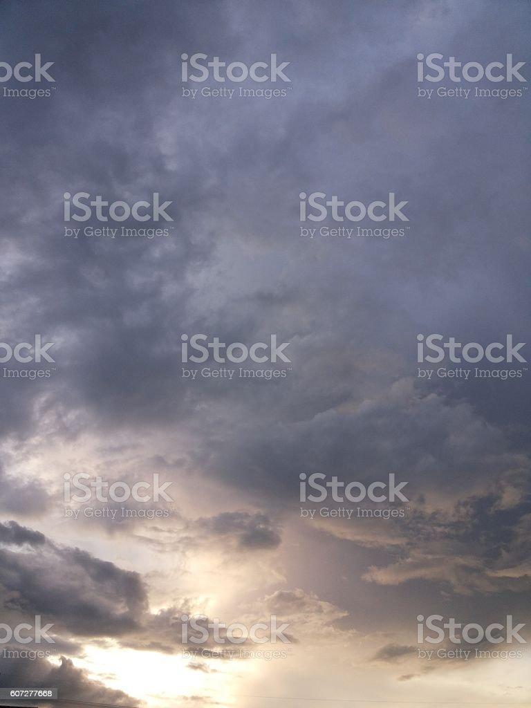 Nimbus moving,Appearance of raincloud stock photo
