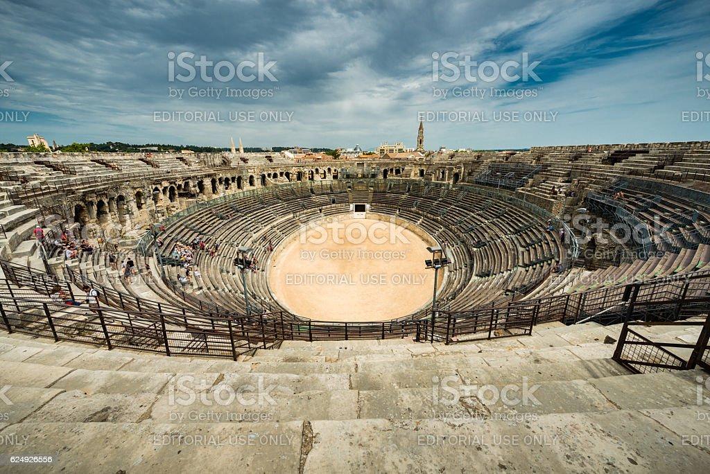 Nimes arena stock photo