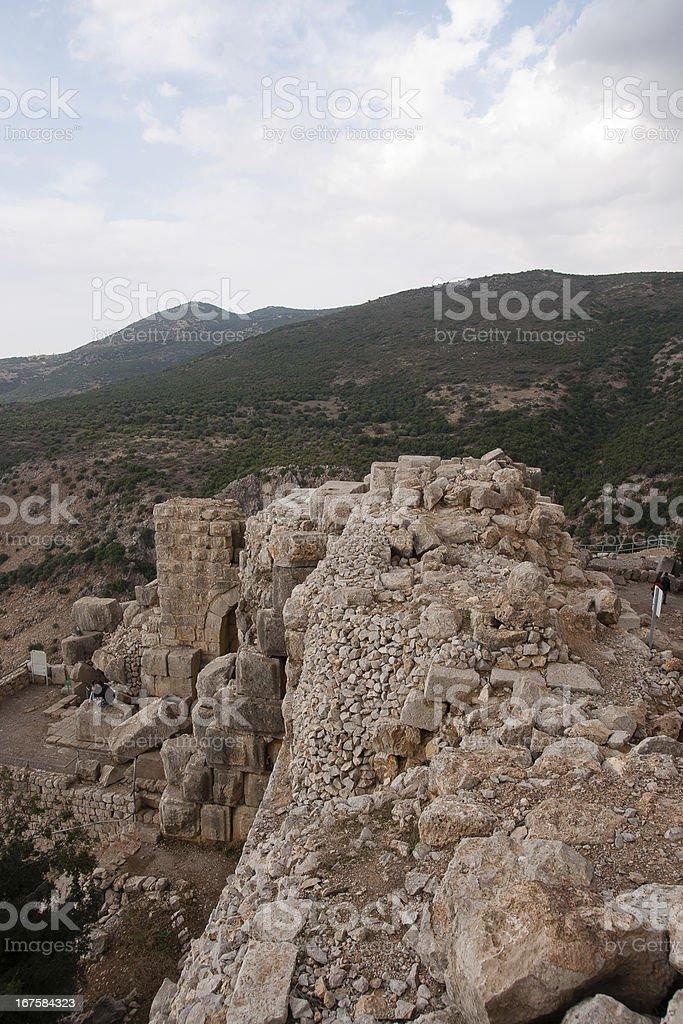 Nimrod castle and Israel landscape royalty-free stock photo
