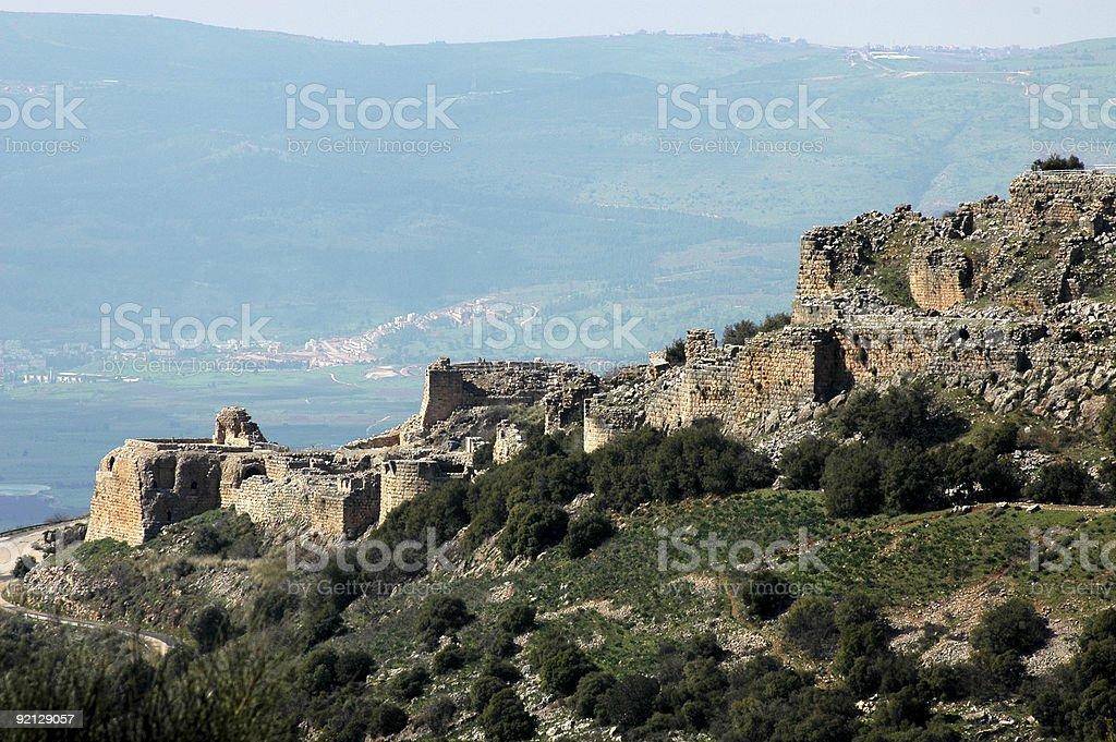 Nimrod Fortress, Israel royalty-free stock photo
