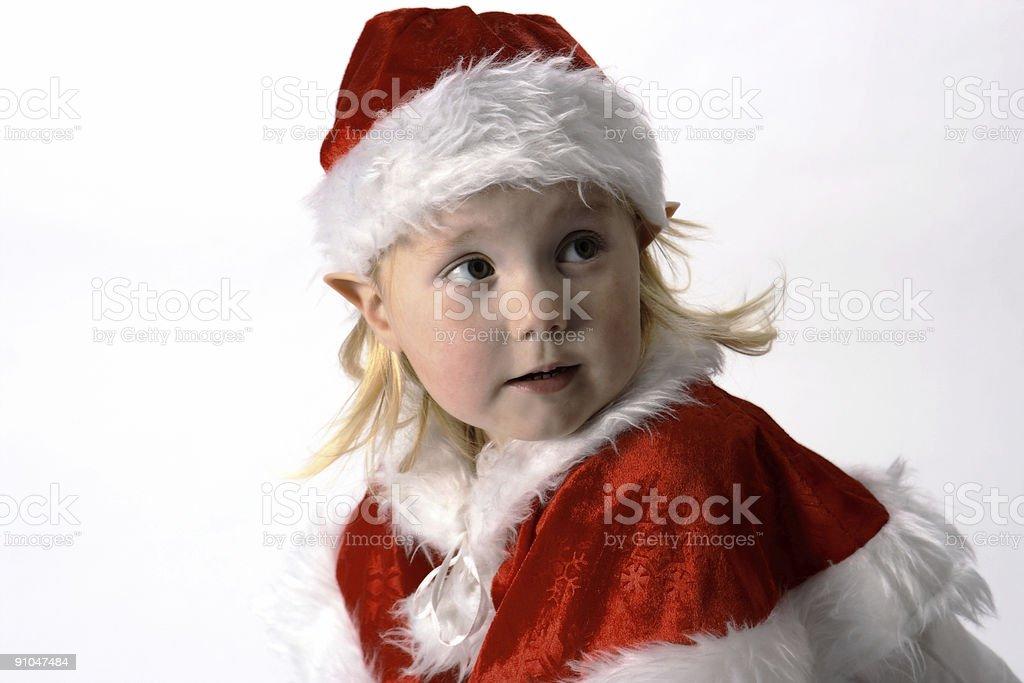 Nina Christmas elf stock photo