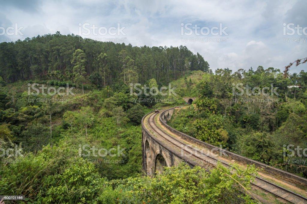Nine arches bridge, Ella, Sri Lanka stock photo